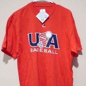 BNWT Majestic USA Baseball Team Shirt Men's sz L